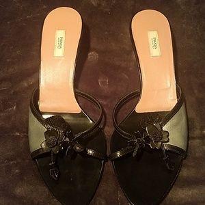Prada kitten heels size 38 1/2